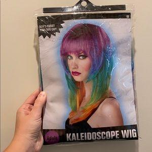 NEW Kaleidoscope Wig + Wig Cap